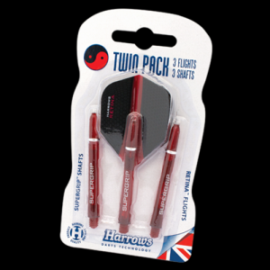 Shafty i piórka TWIN PACK RETINA RED Harrows