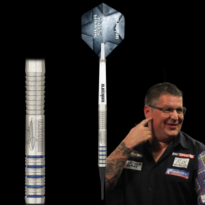 Gary Anderson Two 17g Silver Star Unicorn lotki dart softip