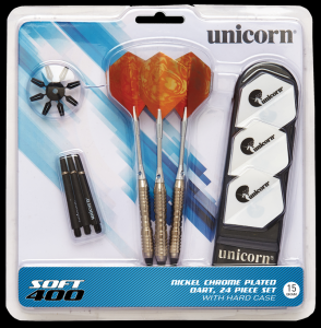 SOFT400 17 g Mass Merchant Unicorn lotki dart soft