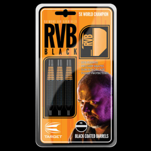 RvB black coated 22 g Target lotki dart steeltip