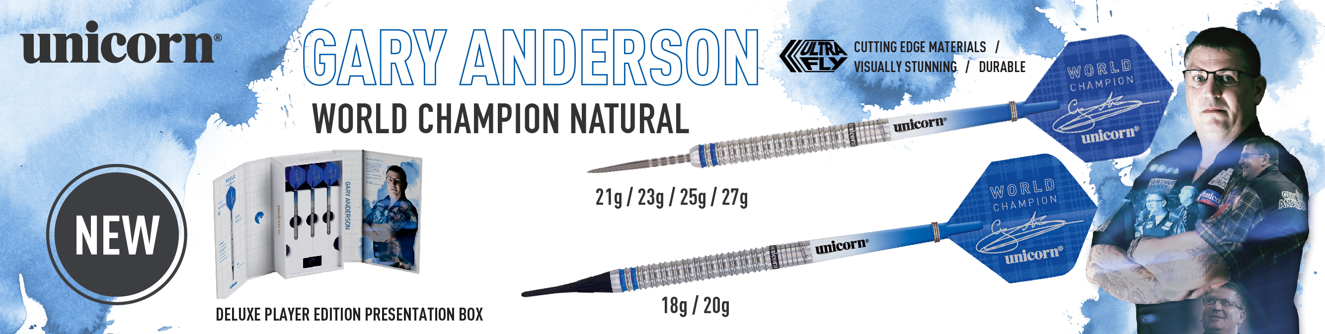 World Champion Gary Anderson Steel and Soft Tip